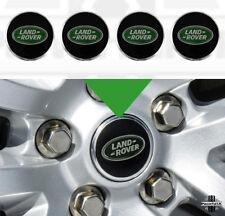 "4x Black+Green Alloy Wheel Center caps for new Land Rover Defender 90 /110 16"""