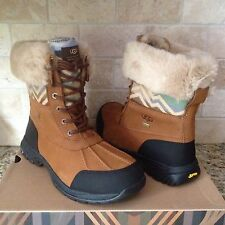UGG Butte Pendleton Chestnut Waterproof Leather Wool Snow Boots Size 12 Mens