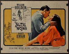 THE WORLD OF SUZIE WONG R-1965 ORIGINAL 22X28 MOVIE POSTER WILLIAM HOLDEN