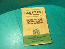 Car handbook austin A40 Models running and maintenance instructions July 1952