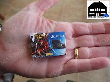 PS4 Second Son, Miniature Box. MAE Mini World 1:12 Scala