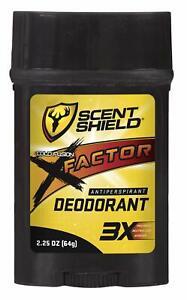 SCENTBLOCKER Deodorant X-Factor Deodorant 2.5 Oz, Odor Control, 3X Factor, Un...