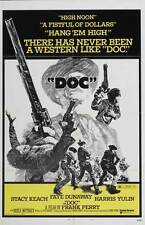 DOC Movie POSTER 27x40 B Stacy Keach Faye Dunaway Harris Yulin Michael Witney