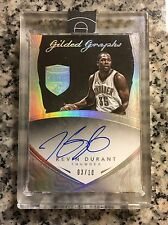 2014-2015 Panini Gilded Graphs Kevin Durant 3/10 AUTO