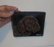 Boykin Spaniel Dog Wallet for Men Hand Painted Leather