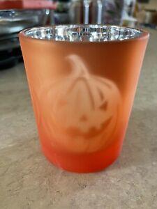 BATH & BODY WORKS Pumpkins Jack O Lantern  CANDLE HOLDER HALLOWEEN RARE HTF!!