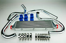 FRONT MOUNT INTERCOOLER KIT VW GOLF JETTA MK4 AUDI A3 A4 A6 TT 1.8T TURBO BLU