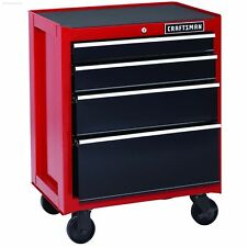 "26"" Rolling Cabinet 4-Drawer Heavy-Duty Tool Chest Garage Work Craftsman - RED"