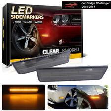 2x Amber LED Front Side Marker Lights For 08-14 Dodge Challenger / 11-14 Charger
