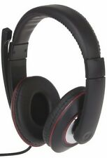VCOM DE117 Black Over the Ear PC Headphones with Microphone Stereo Line Volume