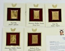 22K Gold Stamp1990s Indian Dances Gold Proof First Day Nixon Civil War Set of 5