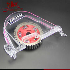 For Honda Civic D15 D16C 96-00 Clear Gear Timing Belt Cover +Cam Pulley Kit RED
