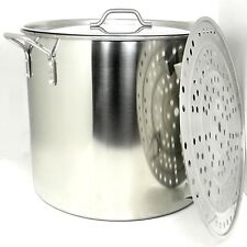 Prime Pacific 100 Quart Heavy Duty Stainless Steel Stock Pot and Steamer Tray