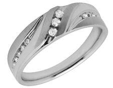 Men's 10K White Gold Real Diamonds Comfort Fit Wedding Band Ring .25ct 7MM