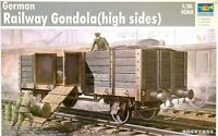 Trumpeter 1:35 German Railway Gondola (High Sides) Model Kit