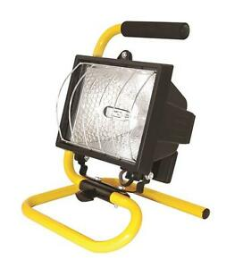 500w Portable Halogen Lamp Work Garden Site Weatherproof Light Flood With Stand