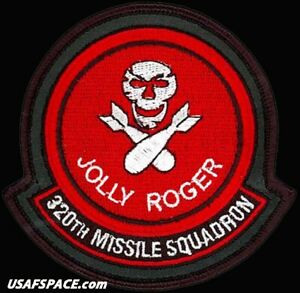 USAF 320th MISSILE SQ - JOLLY ROGER -Minuteman III- ORIGINAL Leather VEL PATCH
