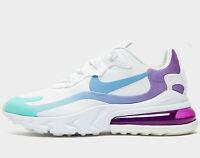 ⚫ 2020 Nike Air Max 270 React Women ® (UK Size 8 EU 42.5) White / Light Blue NEW