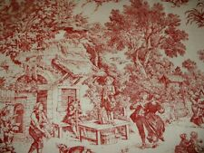 Toile De Jouy, Kravet, House Party Toile by House n Home Red & Antique Fabric