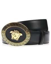Versace Belt Leather ITALY Man Black DCU4949 DVTP1 D410H Sz. 115 MAKE OFFER