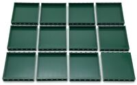 Lego 12 New Dark Green Panels 1 x 6 x 5 Castle Wall Town Home City Pieces
