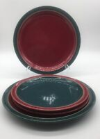 Denby Set Of Two Dinner Plates & Two Salad Plates ( Harlequin )
