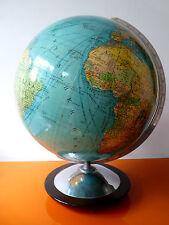 Großer Pappe Columbus Erdglobus Globus ca 1970 im Bauhaus-Stil TOP Pappglobus