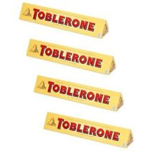 TOBLERONE Chocolate four (4) bars - Made in Switzerland