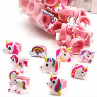 Wholesale 1/5/10pcs PVC Soft Ring Unicorn Rings Kids Party Gifts Favours Decor