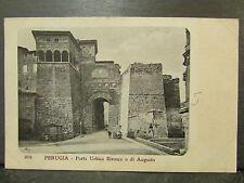cpa italie italia perugia porta urbica etrusca o di augusto     *