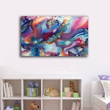 Abstract Color Stretched Canvas Prints Framed Wall Art Decor Painting Gift II