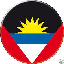 5 x sticker 5cm auto moto velo valise pc portable drapeau Rond Antigua-Barbuda