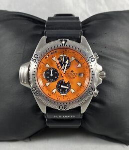 Rare Citizen Promaster  Diver Orange Dial  Men's Watch Runs Well 3745-E70031