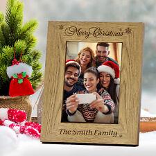 Personalised photo frame Christmas Gift for Friend Baby Mum Kids Grandad
