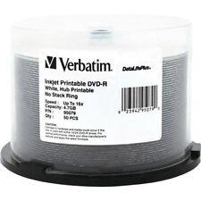 50 Verbatim DVD-R 4.7GB 16X Blank White Inkjet Hub Printable DataLifePlus 95079