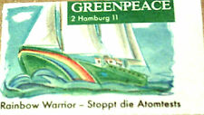 GREENPEACE AUFKLEBER - NEU & UNBENUTZT - 80´S - RAR - RAINBOW WARRIOR - ATOMTEST