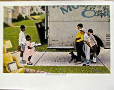 Norman Rockwell NEW KIDS IN THE NEIGHBORHOOD Offset Lithograph 14x11