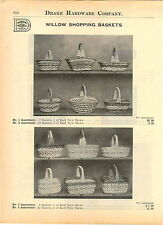 1914 AD Hand Woven Willow Shopping Baskets Waste Market 22 Images