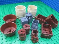 Lego Barrels & Crates Crows Nest Lids Castle City Town Indiana Jones Pirates HTF