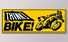 1 pensar Bicicleta pegatina V003