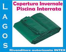 Copertura Piscina Interrata mt 13.50 x 7.50 Telone Impermeabile Invernale Telo