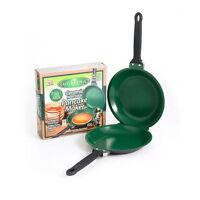 As Seen on TV Flip Jack Pancake Maker Green Non-Stick Cookware Pan Ceramic