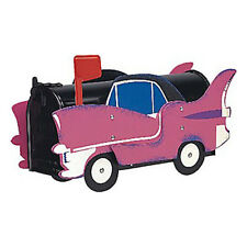 Pink Cadillac Mailbox Post Mount - Handmade by More Than A Mailbox