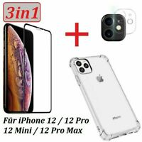 iPhone 12| Mini | Pro | Max Panzerfolie 21D Schutzglas Kamera 9H Glas Hülle Case