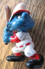 Vintage Schleich Baseball Smurf 1980 Schtroumpf Peyo