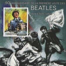 50th ANNIVERSARIO DEI BEATLES negli Stati Uniti RINGO STARR imperforated FRANCOBOLLO SHEETLET 2014