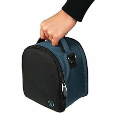 Navy Blue Carrying Case Bag for Canon EOS / Rebel / Compact to DSLR Cameras Bag