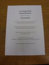 04/03/2012 Tottenham hotpsur V MANCHESTER UNITED-The Oak Room Match Day hospit