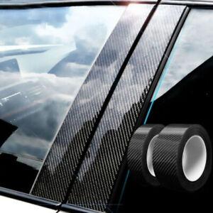 Car Door Sill Protector Sticker Carbon Fiber Strip Bumper Anti Scratch Acces
