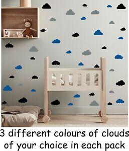 Vinyl Wall Art Stickers Bedroom cloud Home Décor DIY Baby Kids Boy Girls Child